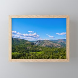 Clouds Floating Over Donner Pass Framed Mini Art Print