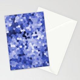Blue Mosaic pattern Design Stationery Cards