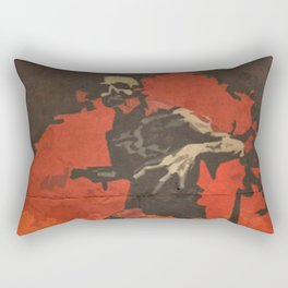 Do Your Part to Stop the Zombie Uprising Rectangular Pillow