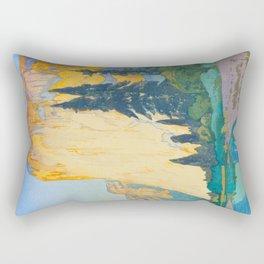 El Capitan Hiroshi Yoshida Modern Japanese Woodblock Print Rectangular Pillow