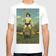 André Waz 'ere White Mens Fitted Tee MEDIUM