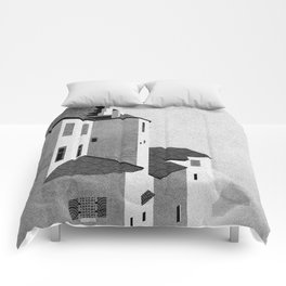 Castle in the Sky | Black & White Comforters