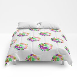 vivid dodecahedron Comforters