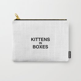 Kittens in Boxes - White Carry-All Pouch