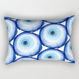 Tree Ring - Indigo Rectangular Pillow