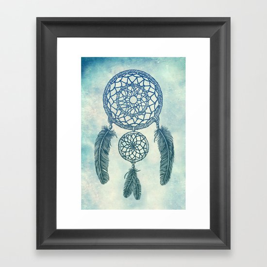 Double Dream Catcher Framed Art Print