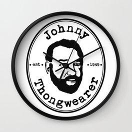 Johnny Thongwearer Wall Clock