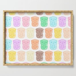 Rainbow Gummy Candy Guinea Pigs Pattern  Serving Tray