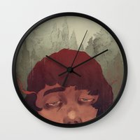 the cure Wall Clocks featuring Slow Cure by James M. Fenner