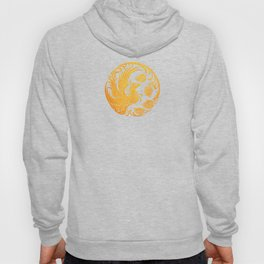 Traditional Yellow and Red Chinese Phoenix Circle Hoody