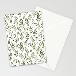Eucalyptus - green leaves Stationery Cards