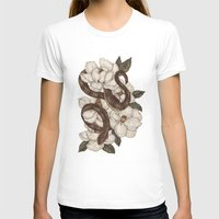 T-shirts featuring Snake and Magnolias by Jessica Roux
