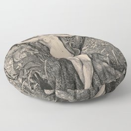 Eve And The Serpent Floor Pillow
