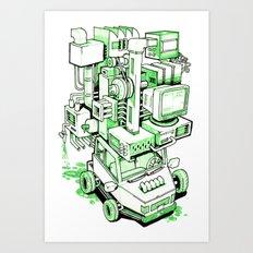 Green Machine Car Art Print