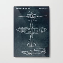 SUPERMARINE SPITFIRE - First flight 1936 Metal Print