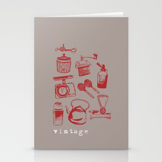 kitchen vintage Stationery Cards