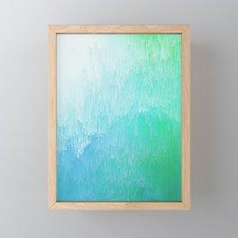 Rainforest - Blue & Green Glitch Framed Mini Art Print