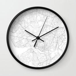 Porto, Portugal Minimalist Map Wall Clock