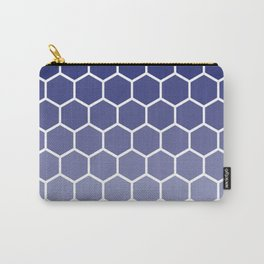 Blue gradient honey comb pattern Carry-All Pouch