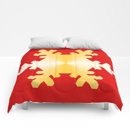 Gold Snowflake Comforters