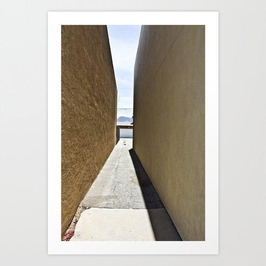 Between Buildings Art Print