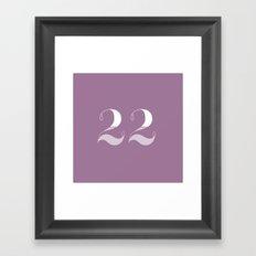 365 Days of Type - 22 Framed Art Print
