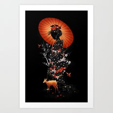 Geisha Nature Art Print