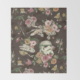 Botanic Wars Throw Blanket