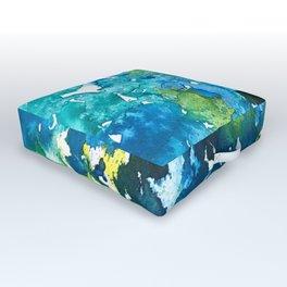 Teal We Meet Again Outdoor Floor Cushion