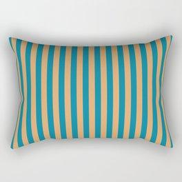 Laguna Blue and Mango Stripes Rectangular Pillow