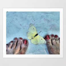 Butterfly Toes Art Print