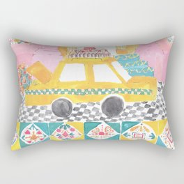 Big Yellow Taxi Rectangular Pillow