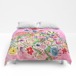 HAPPY FLOWERS Comforters