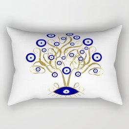 All Seeing Evil Eye Tree Rectangular Pillow