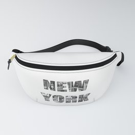 New York  B&W typography Fanny Pack