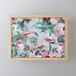 Flamingo Paradise Framed Mini Art Print