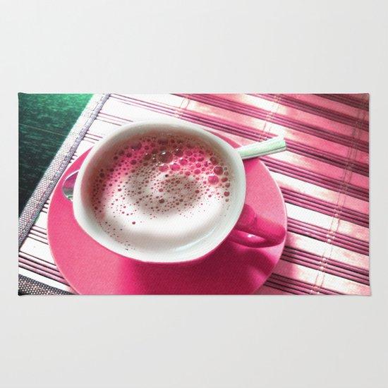Coffee in Pink Rug