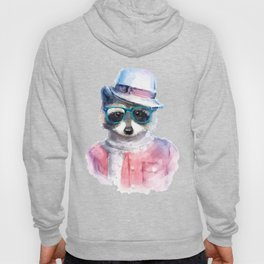 Cute fashion hipster animals pets raccoon Hoody