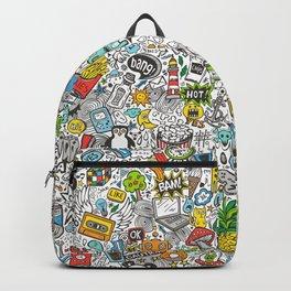 Comic Pop art Doodle Backpack