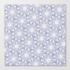 Pale flower pattern Canvas Print