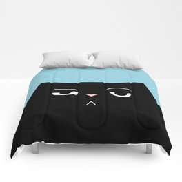 The Boss - Black Cat Illustration Comforters