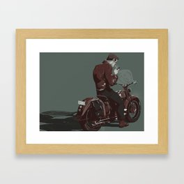 Dean on a bike Framed Art Print