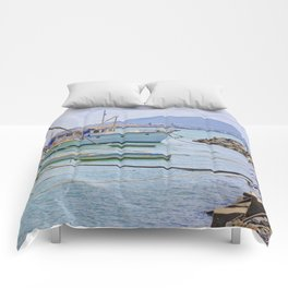 Boats on the river Comforters