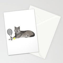 Tennis Wolf Stationery Cards