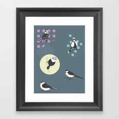 Birds And Dots Framed Art Print