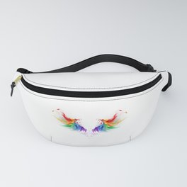 Fluffy Rainbow Wings Fanny Pack