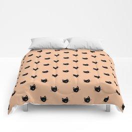 KITTY KITTY KITTY - salmon Comforters