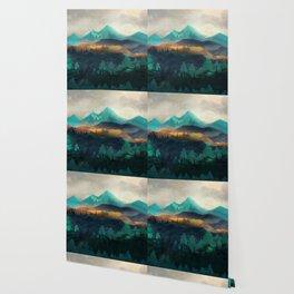 Green Wild Mountainside Wallpaper