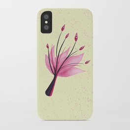 Pink Abstract Water Lily Flower iPhone Case