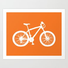 Mountain Bike Orange Art Print